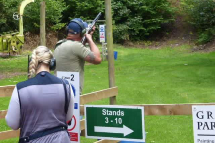 Warton clay shoot trap two